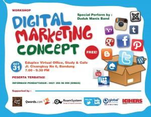 Poster digitl marketing concept
