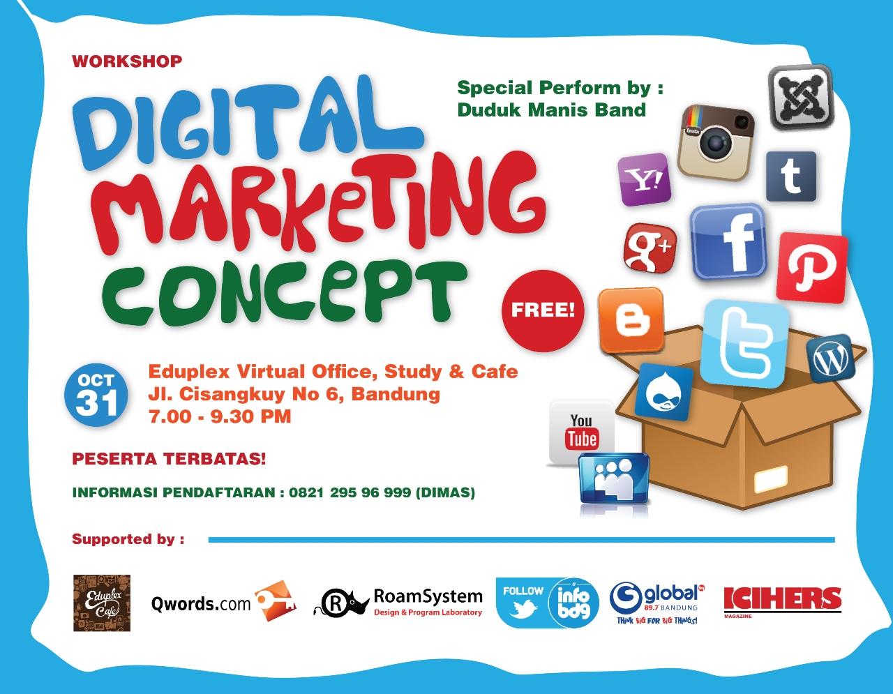 Workshop Digital Marketing Concept