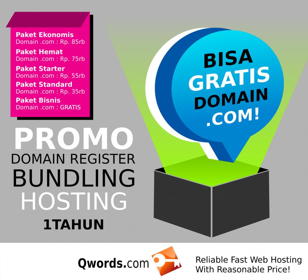 Paket BUndling hosting dan Domain Gratis