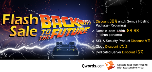 Flash Sale Back To The Future Day - Qwords