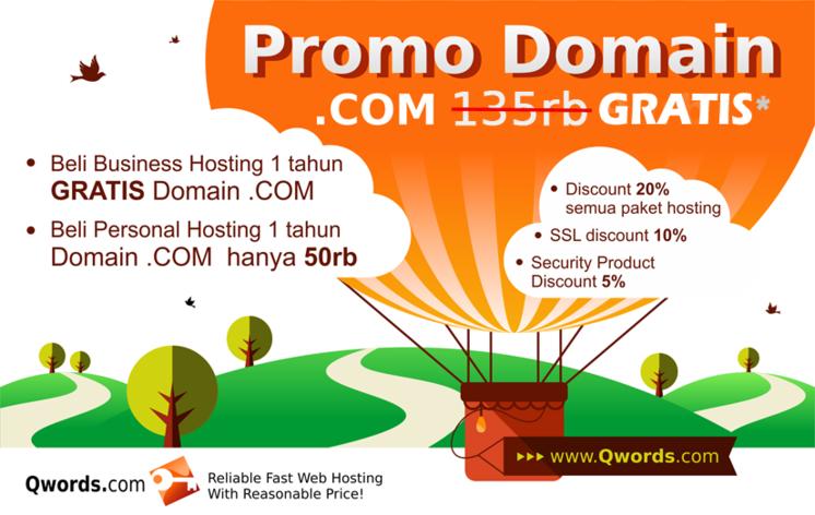Promo Domain COM GRATIS Qwords