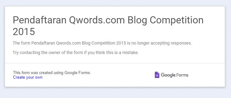 form pendaftaran blog kontes