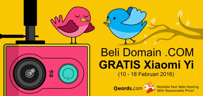 beli domain .com gratis xiaomi yi