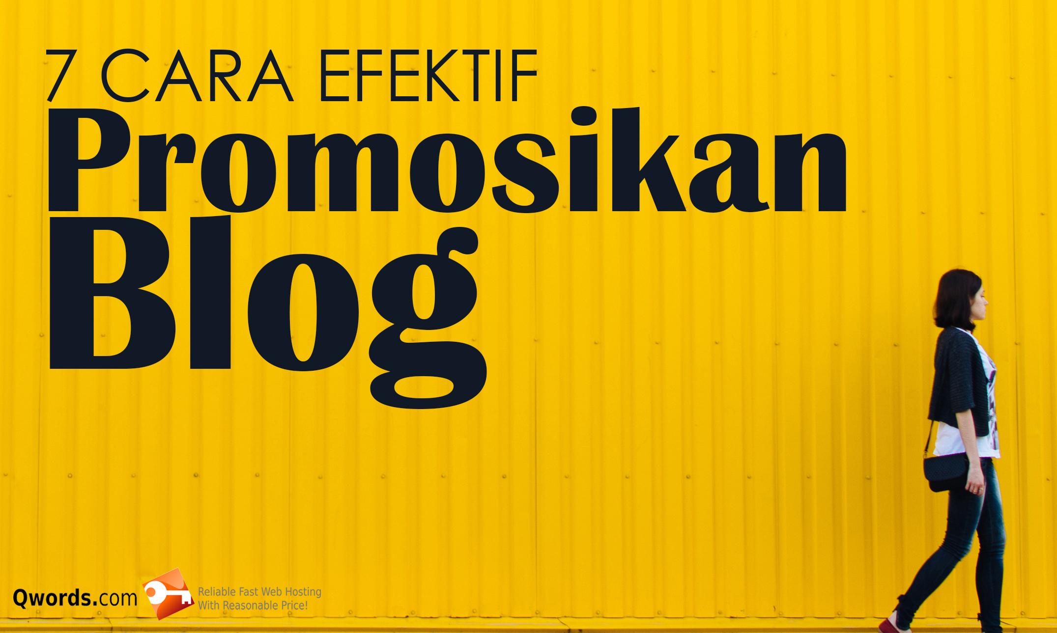 promosi blog pake logo
