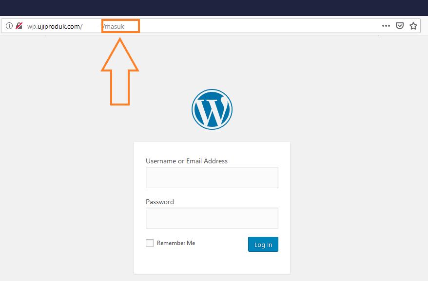 ganti login wordpress