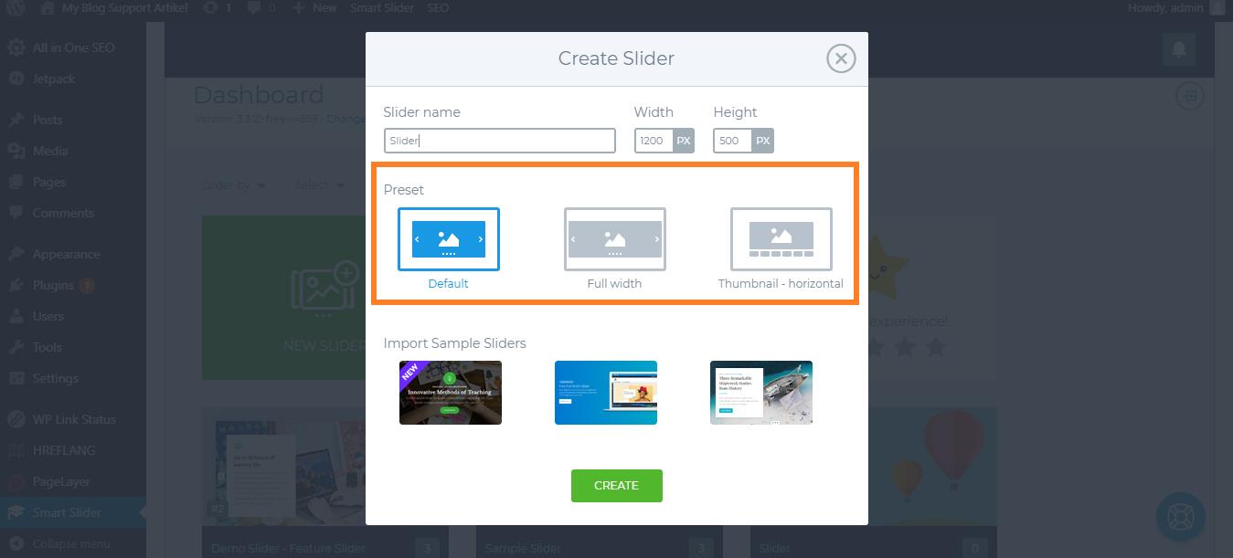 Create slider sesuai dengan kebutuhan