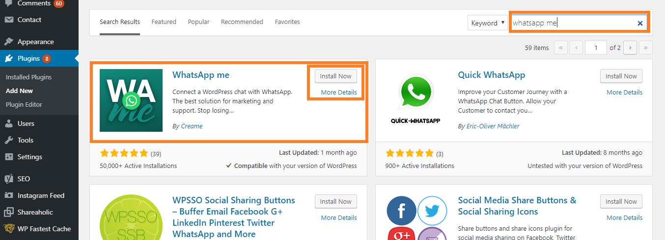 Install WhatsApp Me