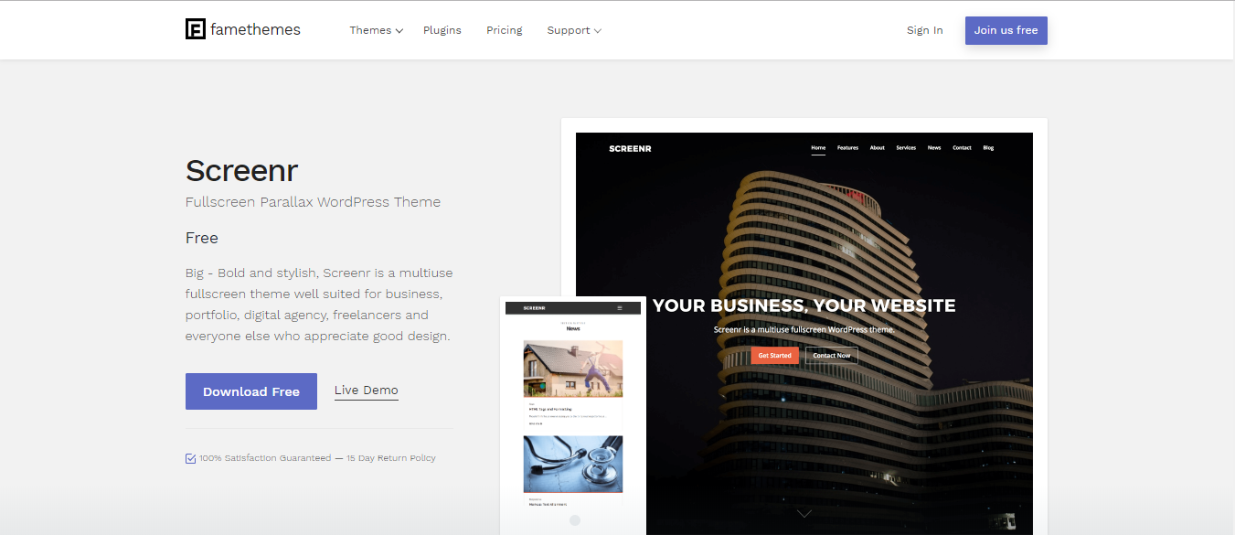 Famethemes - Screenr