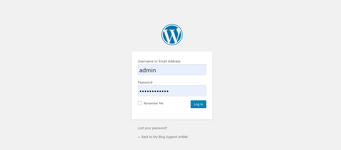 Login Akun WordPress