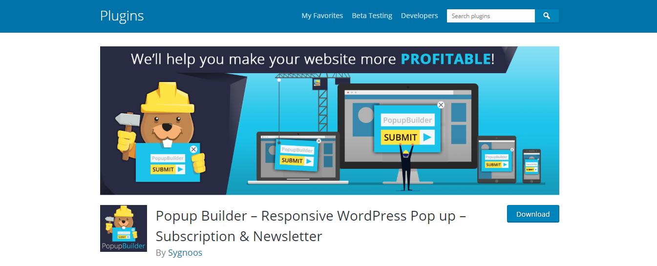 Popup Builder – Responsive WordPress Pop Up – Subscription & Newsletter