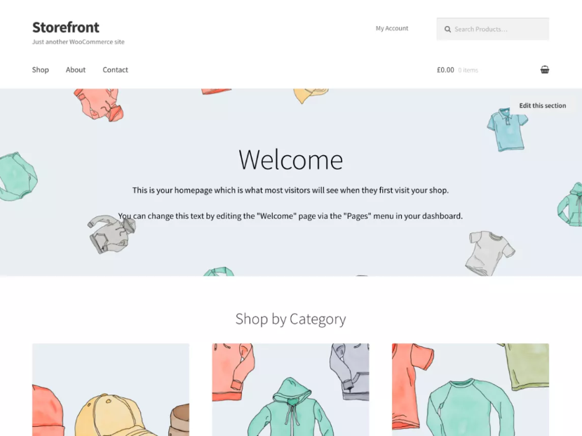 Storefront Template