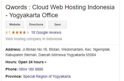 Contoh Google Bisnisku