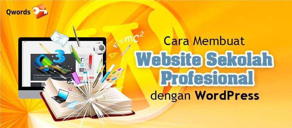 cara membuat website sekolah