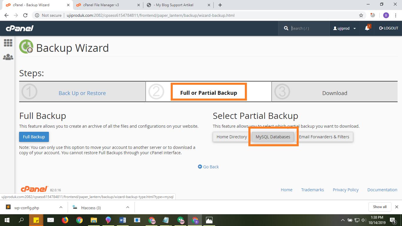 Full Backup Database