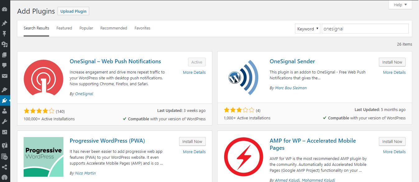Install Plugin OneSignal Push Notification