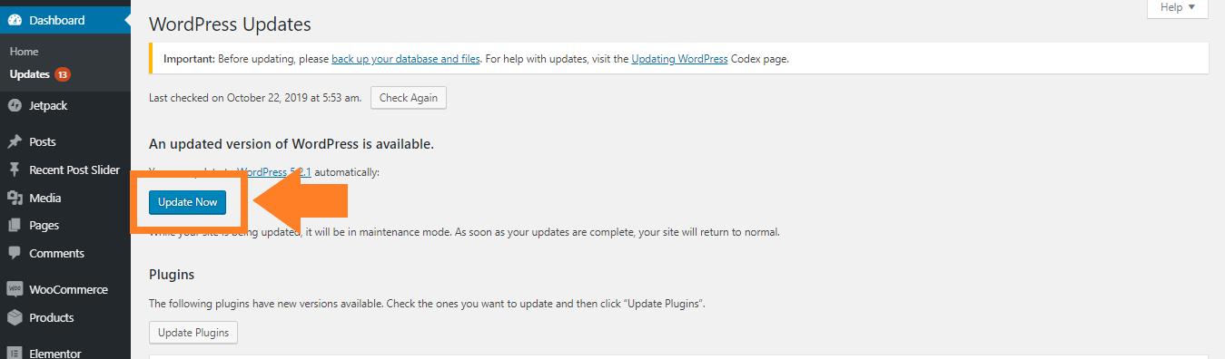 Update Versi WordPress