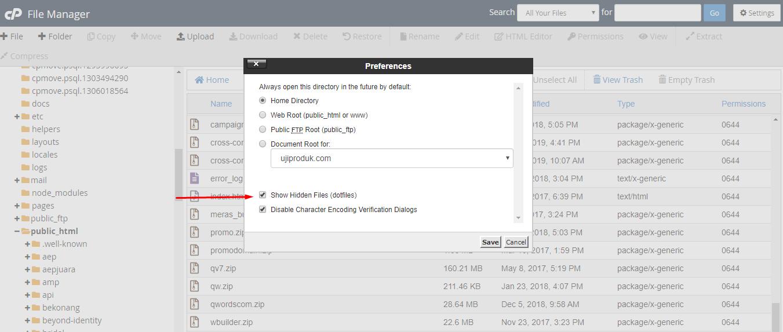 .htaccess wordpress show hidden files