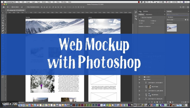 Photoshop Mockup Website