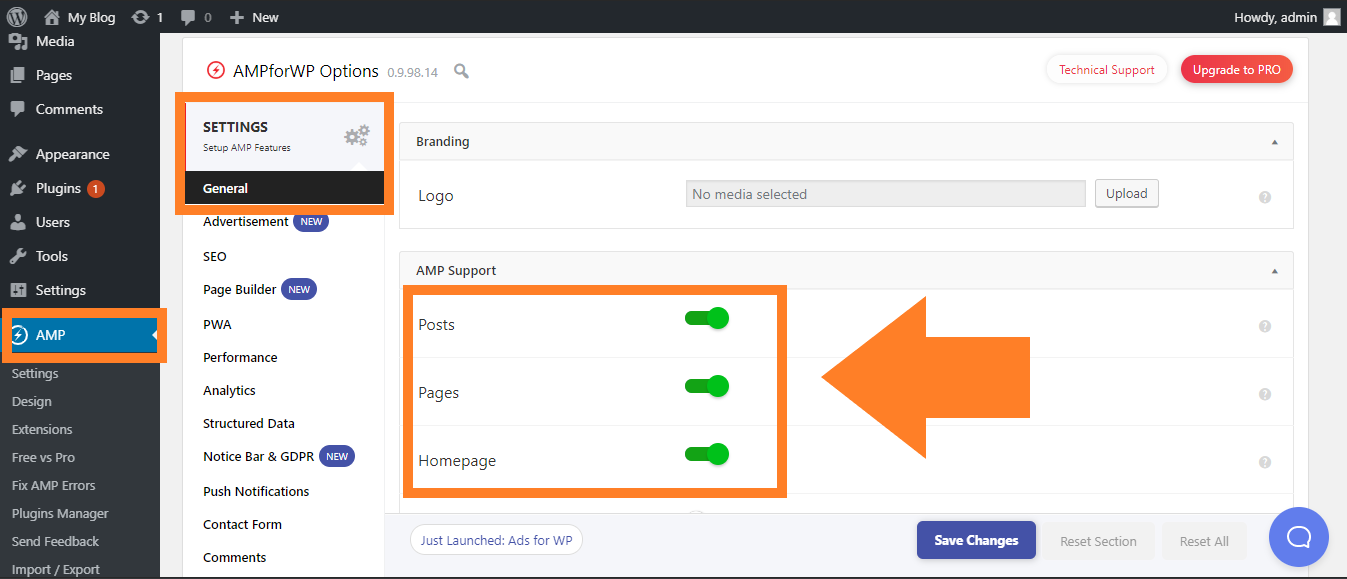 Setting Plugin AMP WordPress
