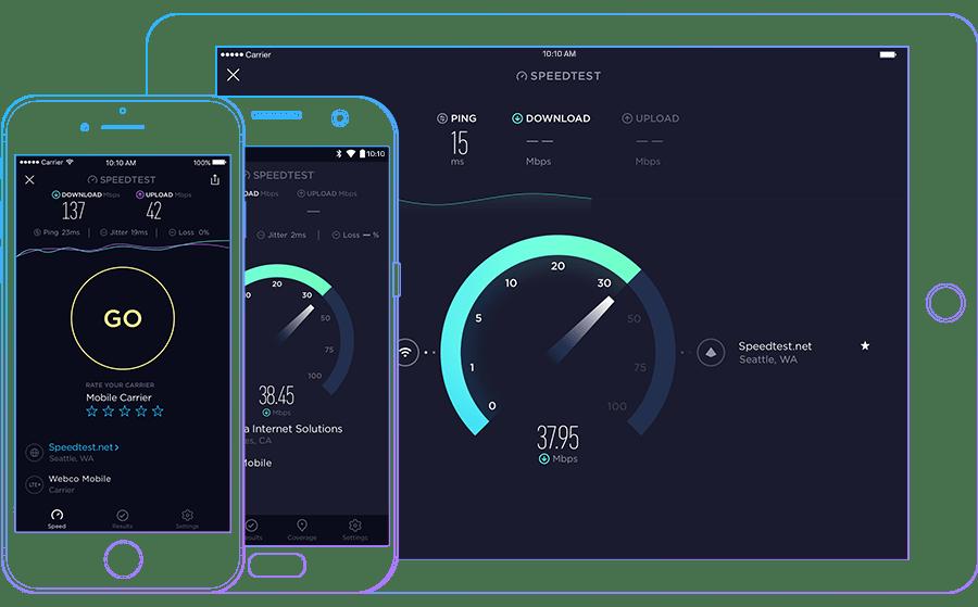Test Kecepatan di Speedtest