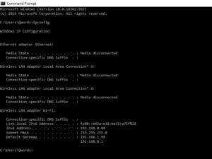 Cek IP Komputer Dengan Command Prompt