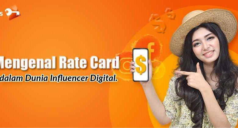 Mengenal Rate Card dalam Dunia Influencer Digital.