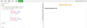 Contoh Internal CSS