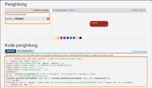 Memasukan kode script