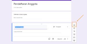 Google Form Pendaftaran