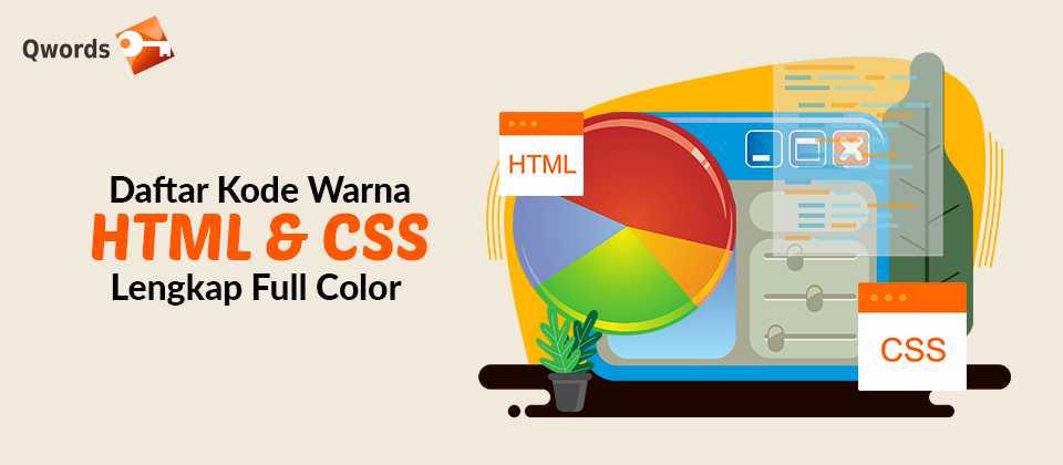 Daftar Kode Warna HTML & CSS Lengkap Full Color