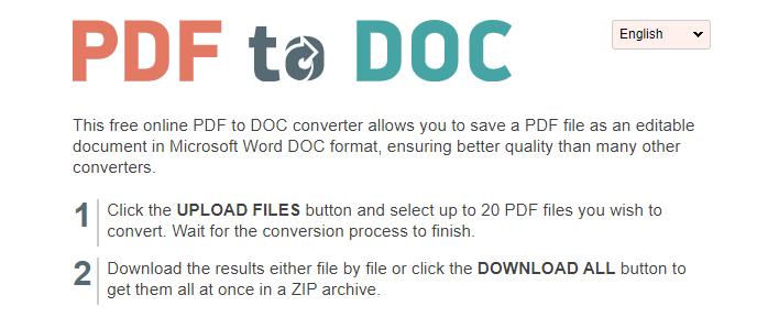 cara mengubah pdf ke word PDF2doc