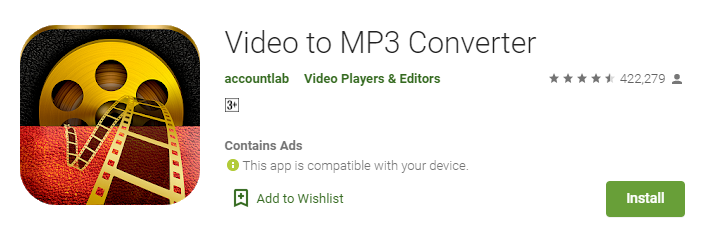 Accountlab Video to MP3 Converter