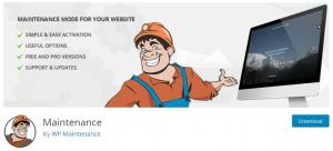 Maintenance WordPress Plugin