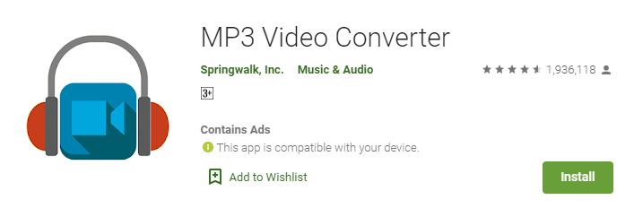 SpringWalk MP3 Video Converter