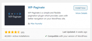 WP-Paginate