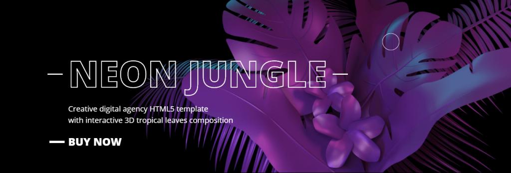 Contoh Template Website Dengan Warna Neon