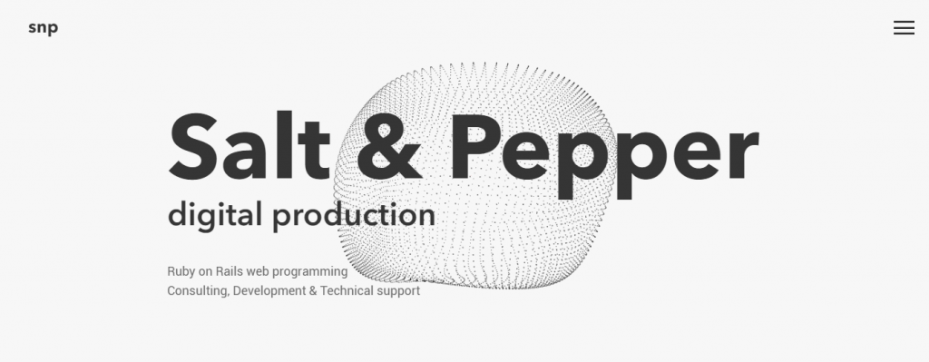 Gaya Monokrom Desain Web Salt and Pepper