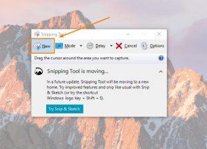 Aplikasi snipping tool