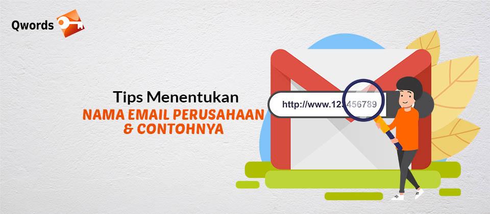 Menentukan Nama Email Perusahaan