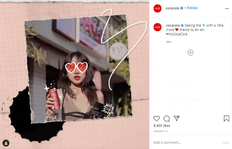 Contoh Penggunaan Hashtag