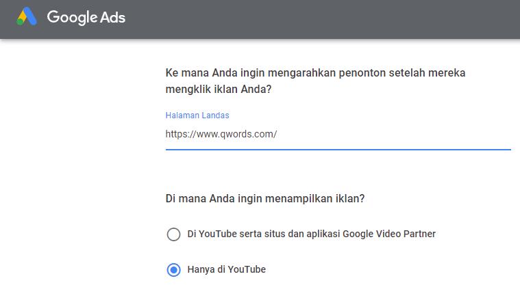 Youtube Ads 101 Tutorial Lengkap Pasang Iklan Di Youtube Qwords