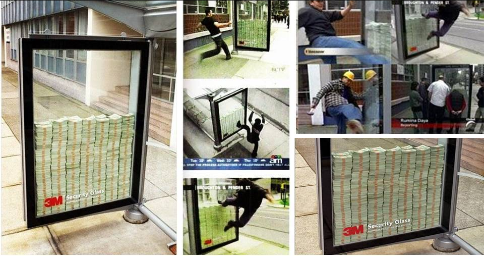 3M security glass guerilla marketing
