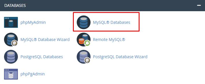 fitur mySQL database di cPanel