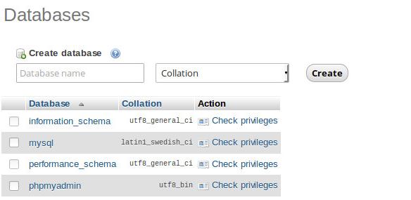membuat database baru phpmyadmin