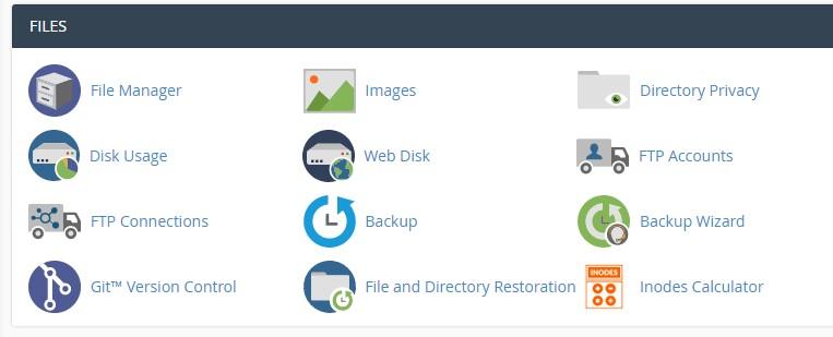 File Manager di cPanel